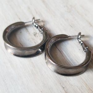 NEW! ASOS Gun Metal Hoop Earrings